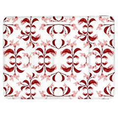 Floral Print Modern Pattern in Red and White Tones Samsung Galaxy Tab 7  P1000 Flip Case