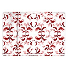 Floral Print Modern Pattern in Red and White Tones Samsung Galaxy Tab 10.1  P7500 Flip Case