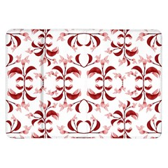 Floral Print Modern Pattern In Red And White Tones Samsung Galaxy Tab 8 9  P7300 Flip Case