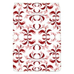 Floral Print Modern Pattern In Red And White Tones Removable Flap Cover (large)