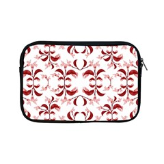 Floral Print Modern Pattern In Red And White Tones Apple Ipad Mini Zippered Sleeve
