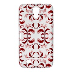 Floral Print Modern Pattern In Red And White Tones Samsung Galaxy Mega 6 3  I9200 Hardshell Case