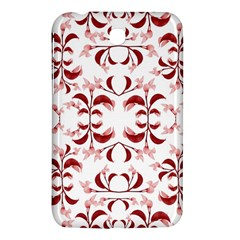 Floral Print Modern Pattern In Red And White Tones Samsung Galaxy Tab 3 (7 ) P3200 Hardshell Case