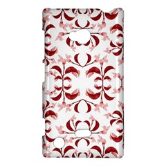 Floral Print Modern Pattern In Red And White Tones Nokia Lumia 720 Hardshell Case