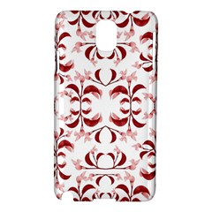 Floral Print Modern Pattern in Red and White Tones Samsung Galaxy Note 3 N9005 Hardshell Case