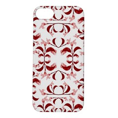 Floral Print Modern Pattern In Red And White Tones Apple Iphone 5s Hardshell Case