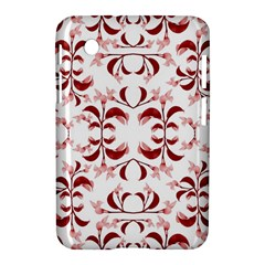 Floral Print Modern Pattern in Red and White Tones Samsung Galaxy Tab 2 (7 ) P3100 Hardshell Case