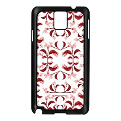 Floral Print Modern Pattern in Red and White Tones Samsung Galaxy Note 3 N9005 Case (Black)