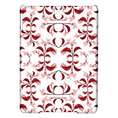 Floral Print Modern Pattern in Red and White Tones Apple iPad Air Hardshell Case