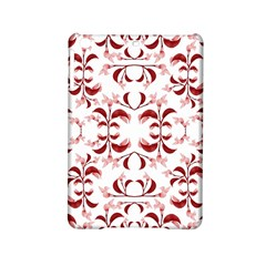 Floral Print Modern Pattern in Red and White Tones Apple iPad Mini 2 Hardshell Case
