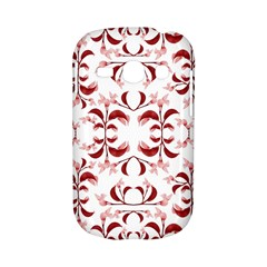 Floral Print Modern Pattern in Red and White Tones Samsung Galaxy S6810 Hardshell Case