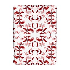 Floral Print Modern Pattern In Red And White Tones Samsung Galaxy Note 10 1 (p600) Hardshell Case