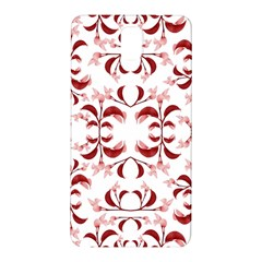 Floral Print Modern Pattern In Red And White Tones Samsung Galaxy Note 3 N9005 Hardshell Back Case