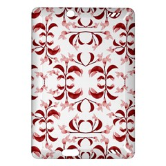 Floral Print Modern Pattern in Red and White Tones Kindle Fire HD (2013) Hardshell Case