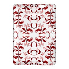 Floral Print Modern Pattern In Red And White Tones Kindle Fire Hdx 8 9  Hardshell Case
