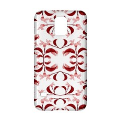 Floral Print Modern Pattern In Red And White Tones Samsung Galaxy S5 Hardshell Case