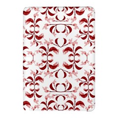 Floral Print Modern Pattern in Red and White Tones Samsung Galaxy Tab Pro 10.1 Hardshell Case