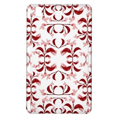 Floral Print Modern Pattern In Red And White Tones Samsung Galaxy Tab Pro 8 4 Hardshell Case