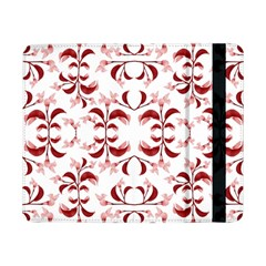 Floral Print Modern Pattern in Red and White Tones Samsung Galaxy Tab Pro 8.4  Flip Case