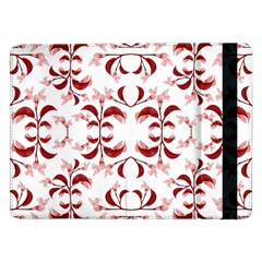 Floral Print Modern Pattern In Red And White Tones Samsung Galaxy Tab Pro 12 2  Flip Case