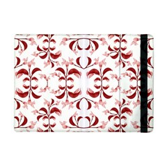 Floral Print Modern Pattern In Red And White Tones Apple Ipad Mini 2 Flip Case