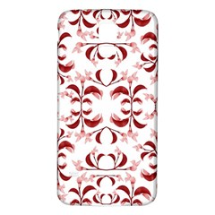 Floral Print Modern Pattern in Red and White Tones Samsung Galaxy S5 Back Case (White)