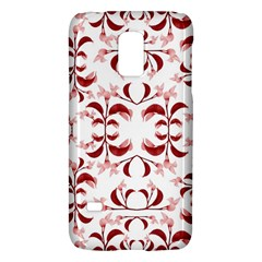 Floral Print Modern Pattern in Red and White Tones Samsung Galaxy S5 Mini Hardshell Case