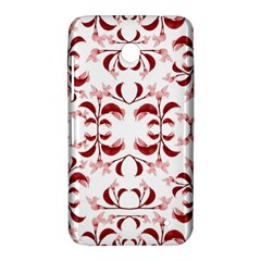 Floral Print Modern Pattern in Red and White Tones Nokia Lumia 630 Hardshell Case