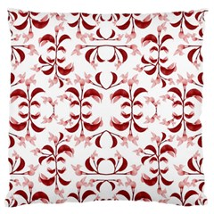 Floral Print Modern Pattern in Red and White Tones Large Flano Cushion Case (One Side)
