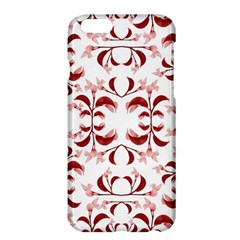 Floral Print Modern Pattern In Red And White Tones Apple Iphone 6 Plus Hardshell Case
