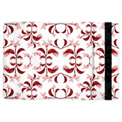 Floral Print Modern Pattern in Red and White Tones Apple iPad Air 2 Flip Case
