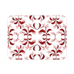 Floral Print Modern Pattern in Red and White Tones Double Sided Flano Blanket (Mini)