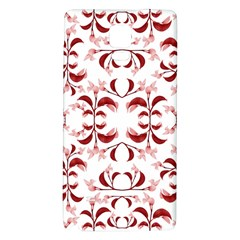 Floral Print Modern Pattern in Red and White Tones Samsung Note 4 Hardshell Back Case