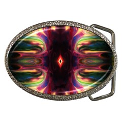Through The Valley By Saprillika Belt Buckle (oval)