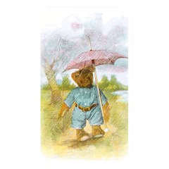 Vintage Drawing: Teddy Bear In The Rain Memory Card Reader (rectangular)