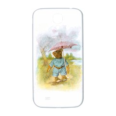 Vintage Drawing: Teddy Bear In The Rain Samsung Galaxy S4 I9500/i9505  Hardshell Back Case