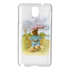 Vintage Drawing: Teddy Bear In The Rain Samsung Galaxy Note 3 N9005 Hardshell Case
