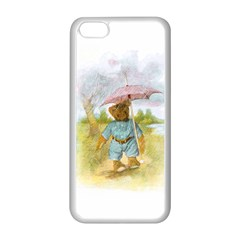Vintage Drawing: Teddy Bear in the Rain Apple iPhone 5C Seamless Case (White)