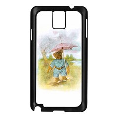 Vintage Drawing: Teddy Bear in the Rain Samsung Galaxy Note 3 N9005 Case (Black)
