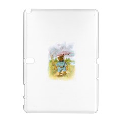 Vintage Drawing: Teddy Bear in the Rain Samsung Galaxy Note 10.1 (P600) Hardshell Case
