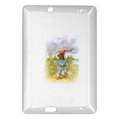 Vintage Drawing: Teddy Bear in the Rain Kindle Fire HD (2013) Hardshell Case