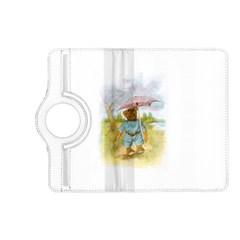 Vintage Drawing: Teddy Bear in the Rain Kindle Fire HD (2013) Flip 360 Case