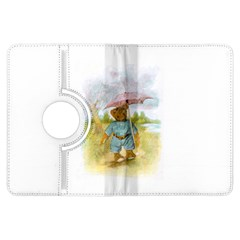 Vintage Drawing: Teddy Bear in the Rain Kindle Fire HDX Flip 360 Case