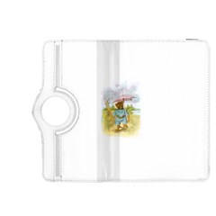 Vintage Drawing: Teddy Bear in the Rain Kindle Fire HDX 8.9  Flip 360 Case