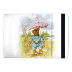 Vintage Drawing: Teddy Bear In The Rain Samsung Galaxy Tab Pro 10 1  Flip Case