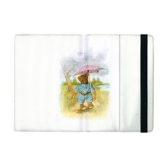 Vintage Drawing: Teddy Bear In The Rain Apple Ipad Mini 2 Flip Case