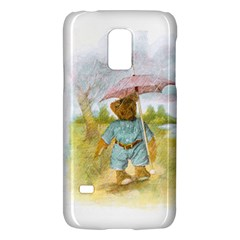 Vintage Drawing: Teddy Bear in the Rain Samsung Galaxy S5 Mini Hardshell Case