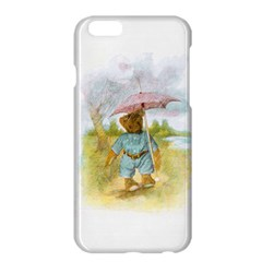 Vintage Drawing: Teddy Bear in the Rain Apple iPhone 6 Plus Hardshell Case