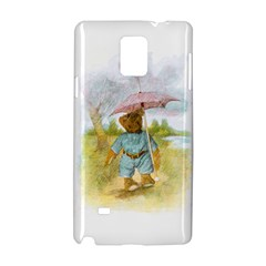 Vintage Drawing: Teddy Bear In The Rain Samsung Galaxy Note 4 Hardshell Case