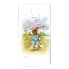 Vintage Drawing: Teddy Bear in the Rain Samsung Note 4 Hardshell Back Case